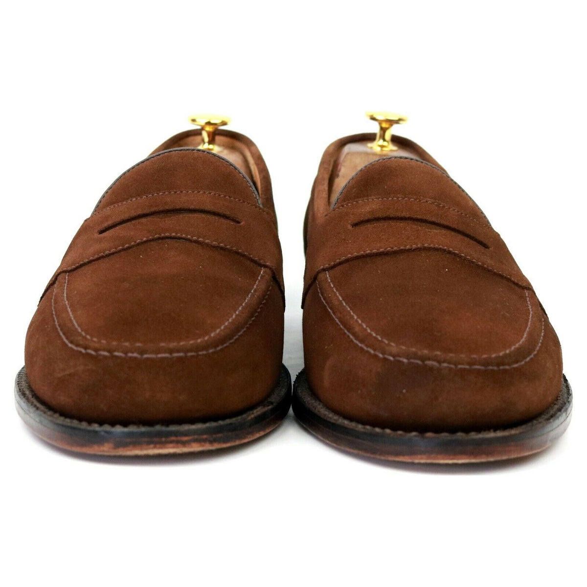Loake 'Eton' Brown Suede Loafers UK 9 F