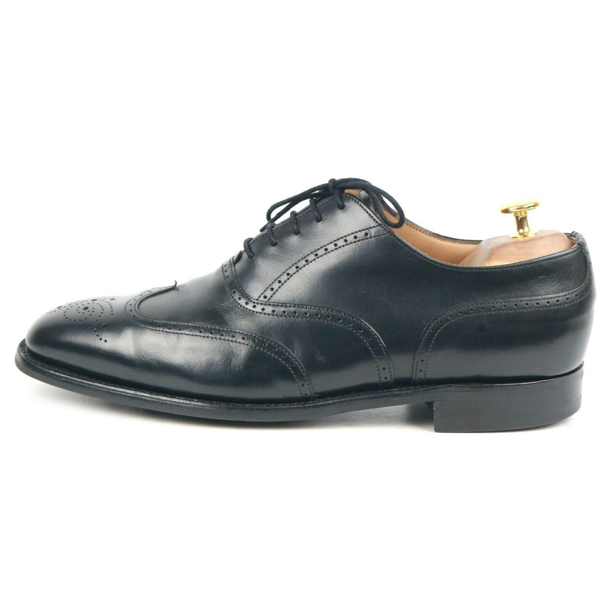 Cheaney 'Loddington R' Black Brogues Leather Men's Shoes UK 10 F