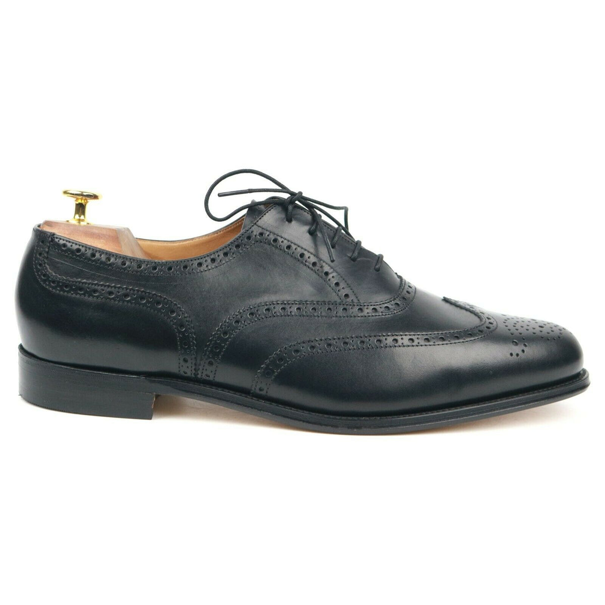 Gieves & Hawkes X Alfred Sargent Black Leather Brogues UK 12 F