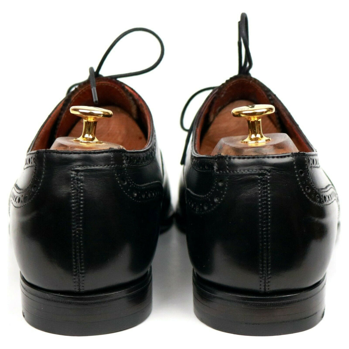 Crockett & Jones 'Barrington II' Black Leather Oxford Semi Brogues UK 12 E