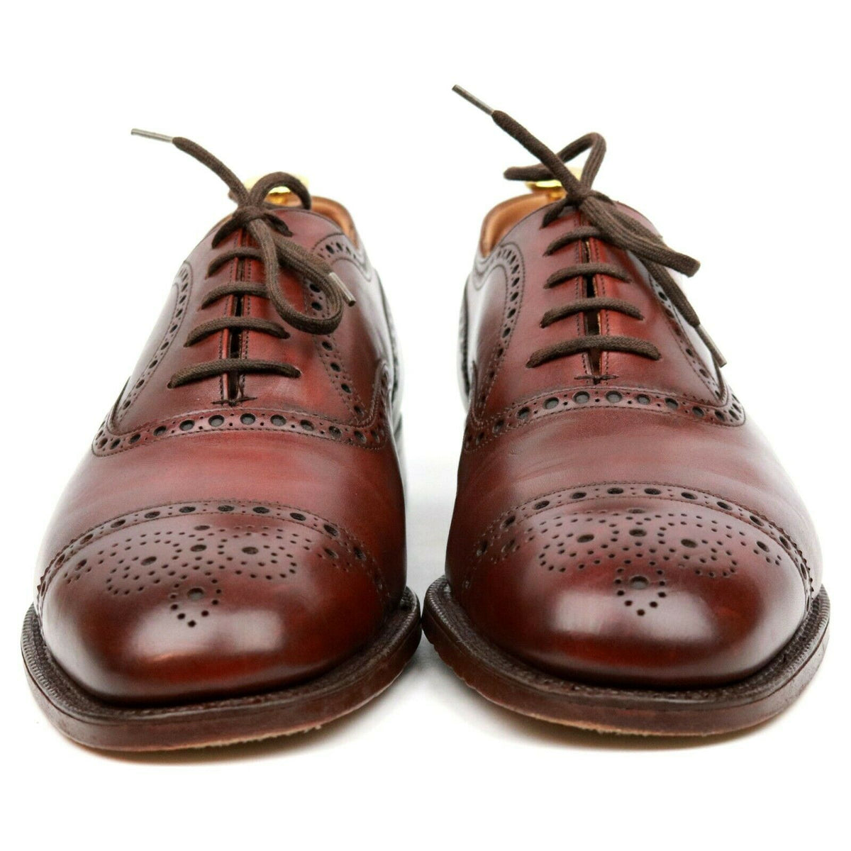 Church's Brown Leather Oxford Semi Brogues UK 9.5 F