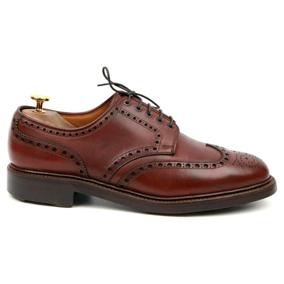Crockett & Jones 'Warwick' Brown Leather Derby Brogues UK 8.5 F