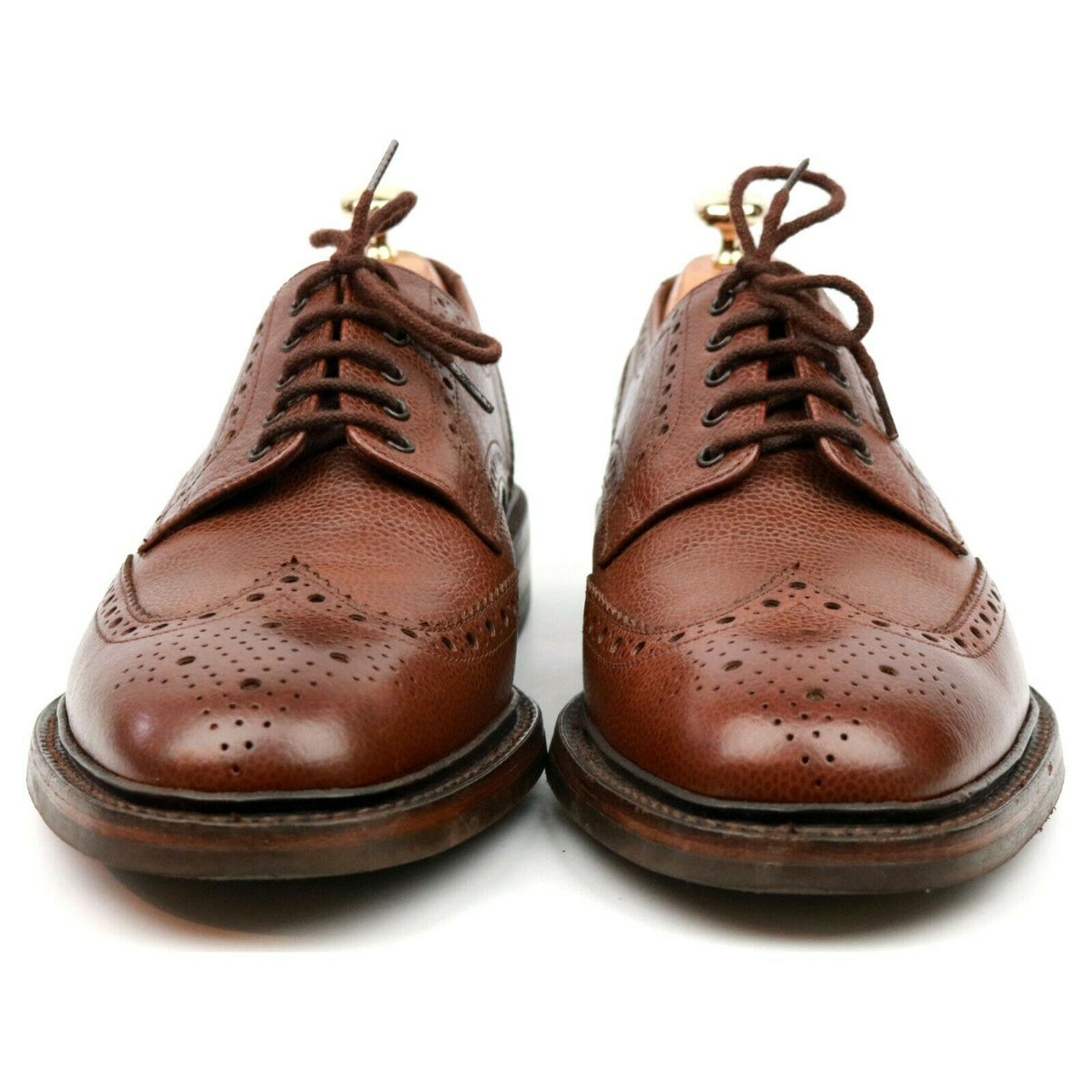 Loake 1880 'Badminton 2' Brown Leather Derby Brogues UK 8 G