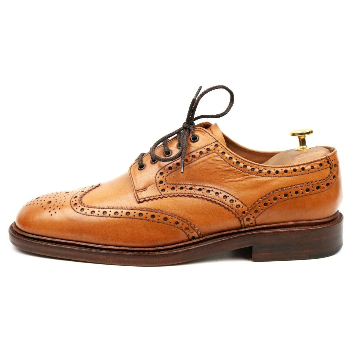 Loake 1880 'Chester' Tan Brown Leather Derby Brogues UK 9 F