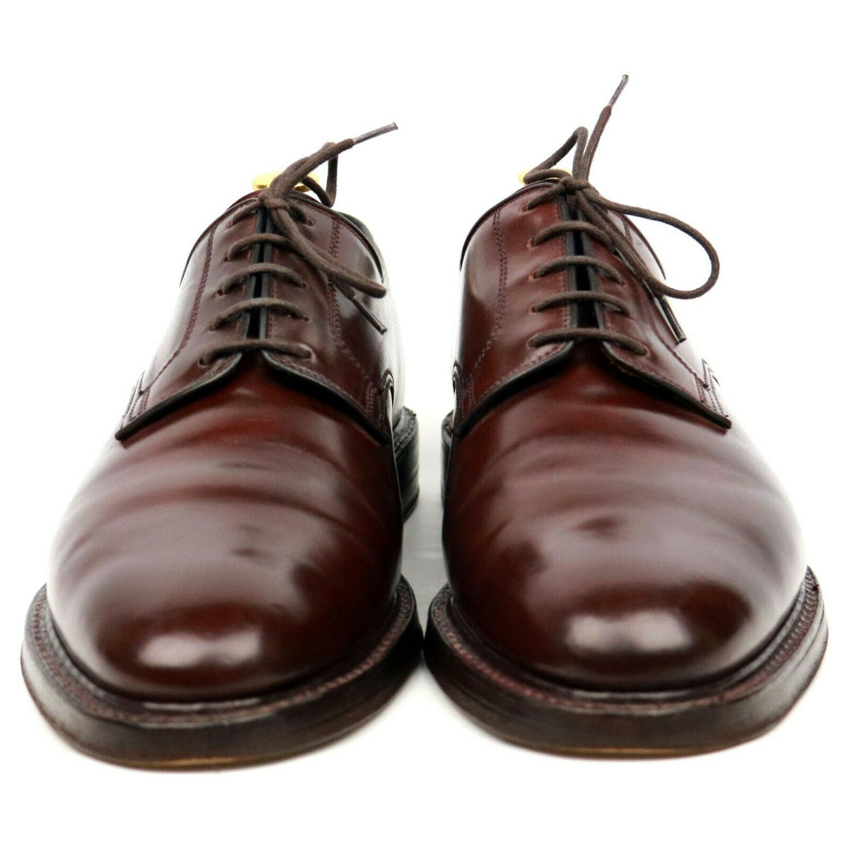Crockett & Jones 'Ashdown' Burgundy Cordovan Leather Derby UK 8 E