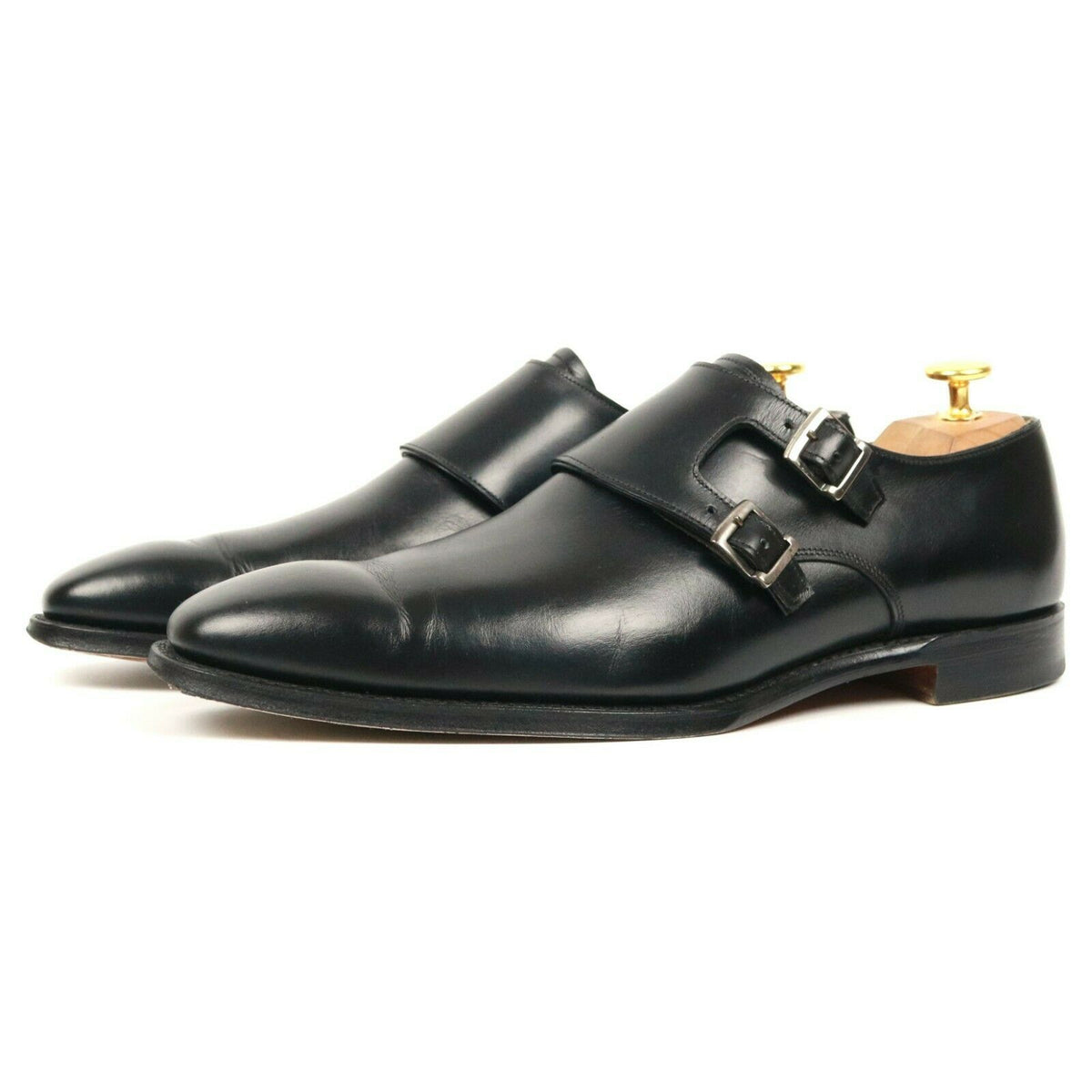 Cheaney 'Ladbroke' Black Leather Double Monk Strap UK 7 F