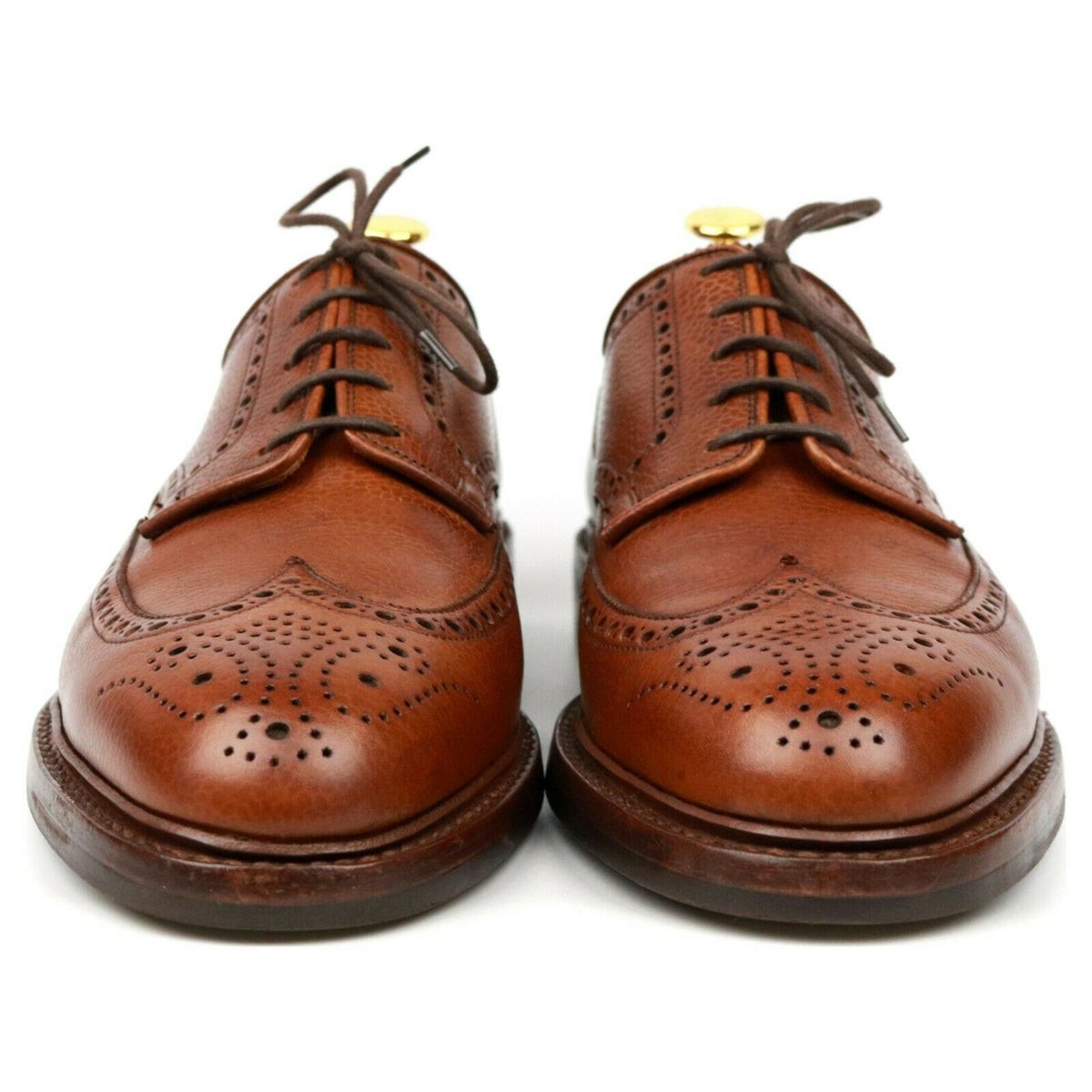 Crockett & Jones 'Pembroke' Tan Brown Leather Derby Brogues UK 7 E