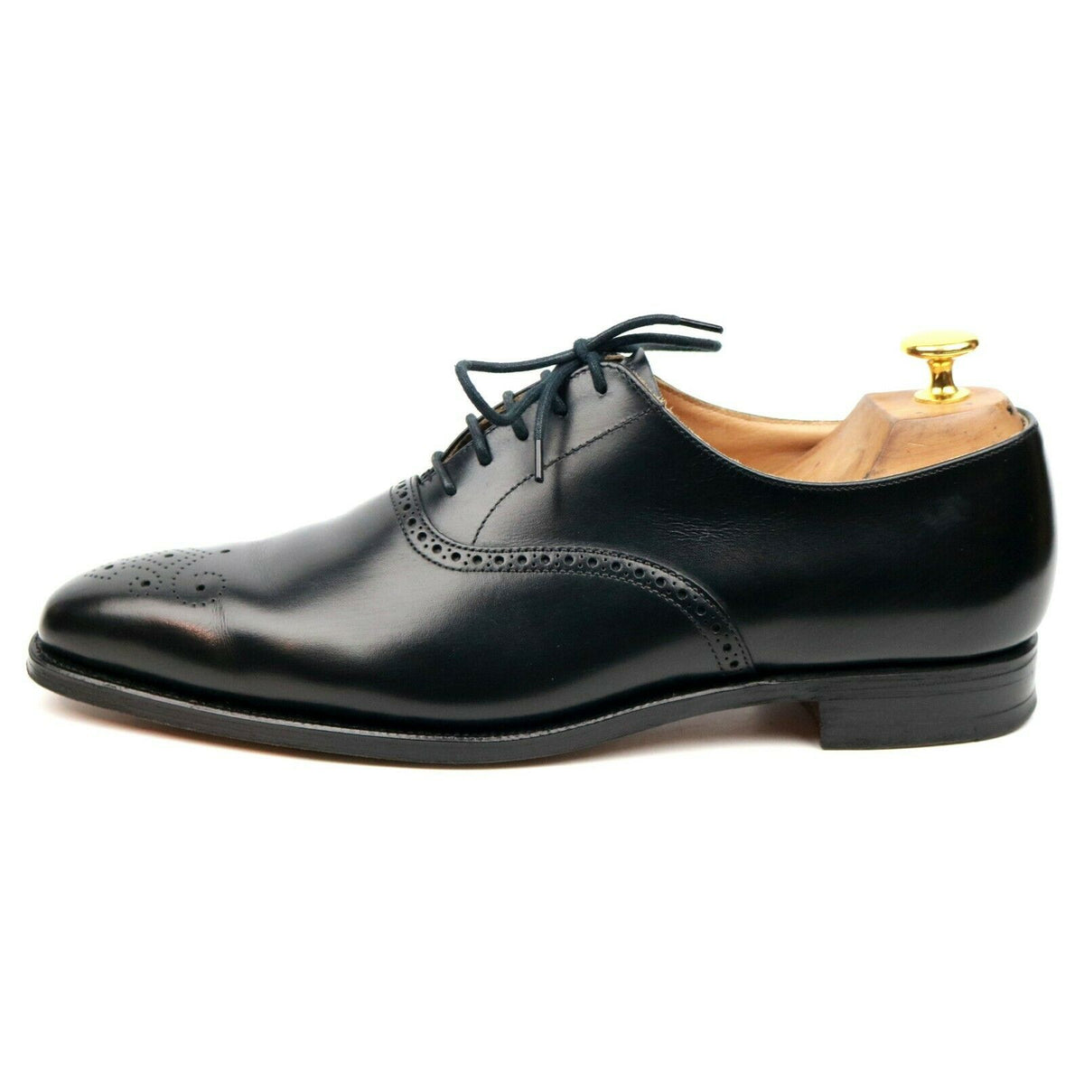 Crockett & Jones 'Edgware' Black Leather Oxford UK 7 E