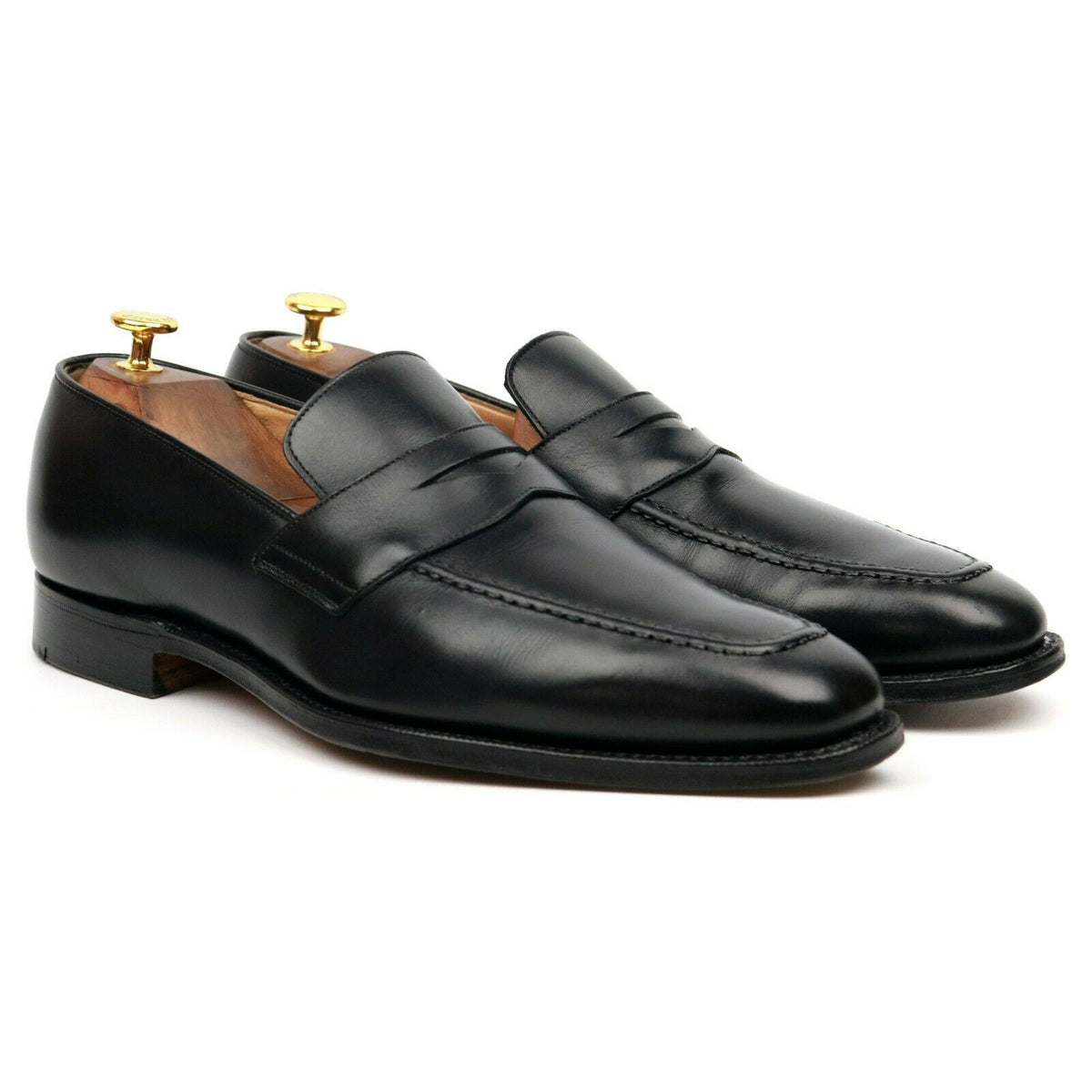 Church's 'Hertford' Black Leather Loafers UK 10 F