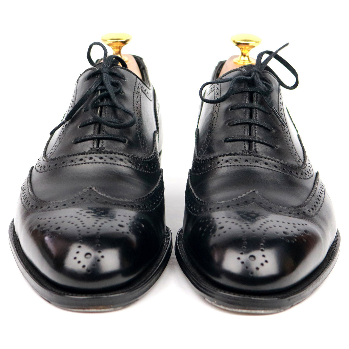 Alfred Sargent 'Hunt' Black Leather Brogues UK 7 F