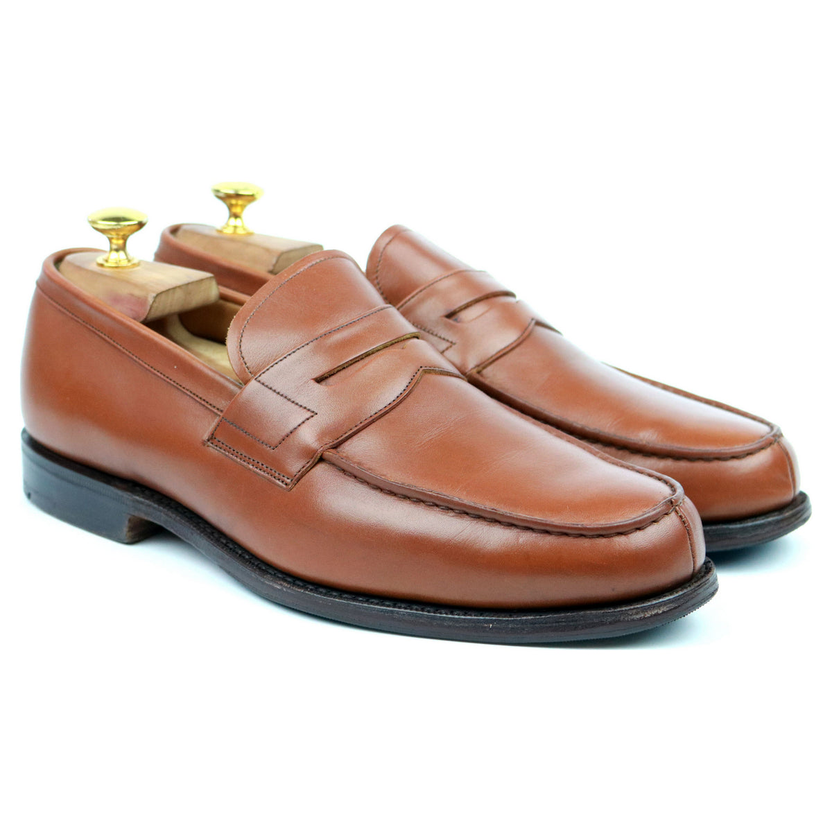 Church's Tan Brown Leather Loafers UK 8 F
