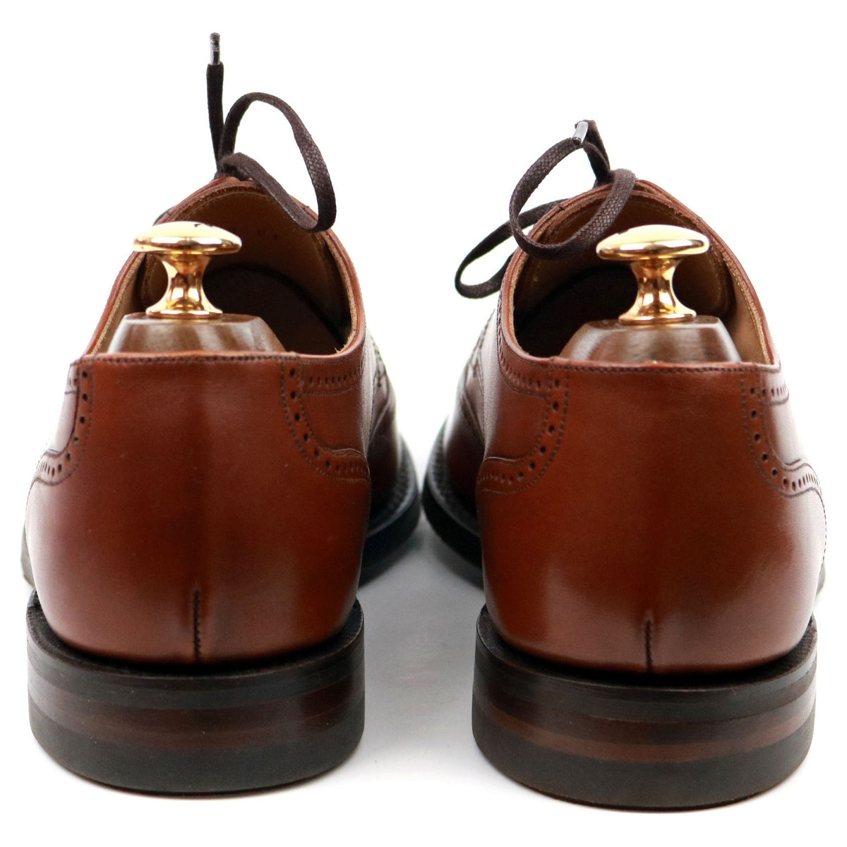 Loake 1880 'Eden' Tan Brown Leather Derby UK 6 F