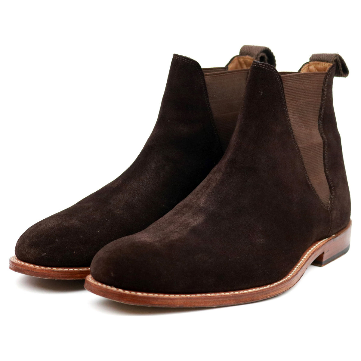 Grenson 'Nolan' Brown Suede Chelsea Boots UK 8 F