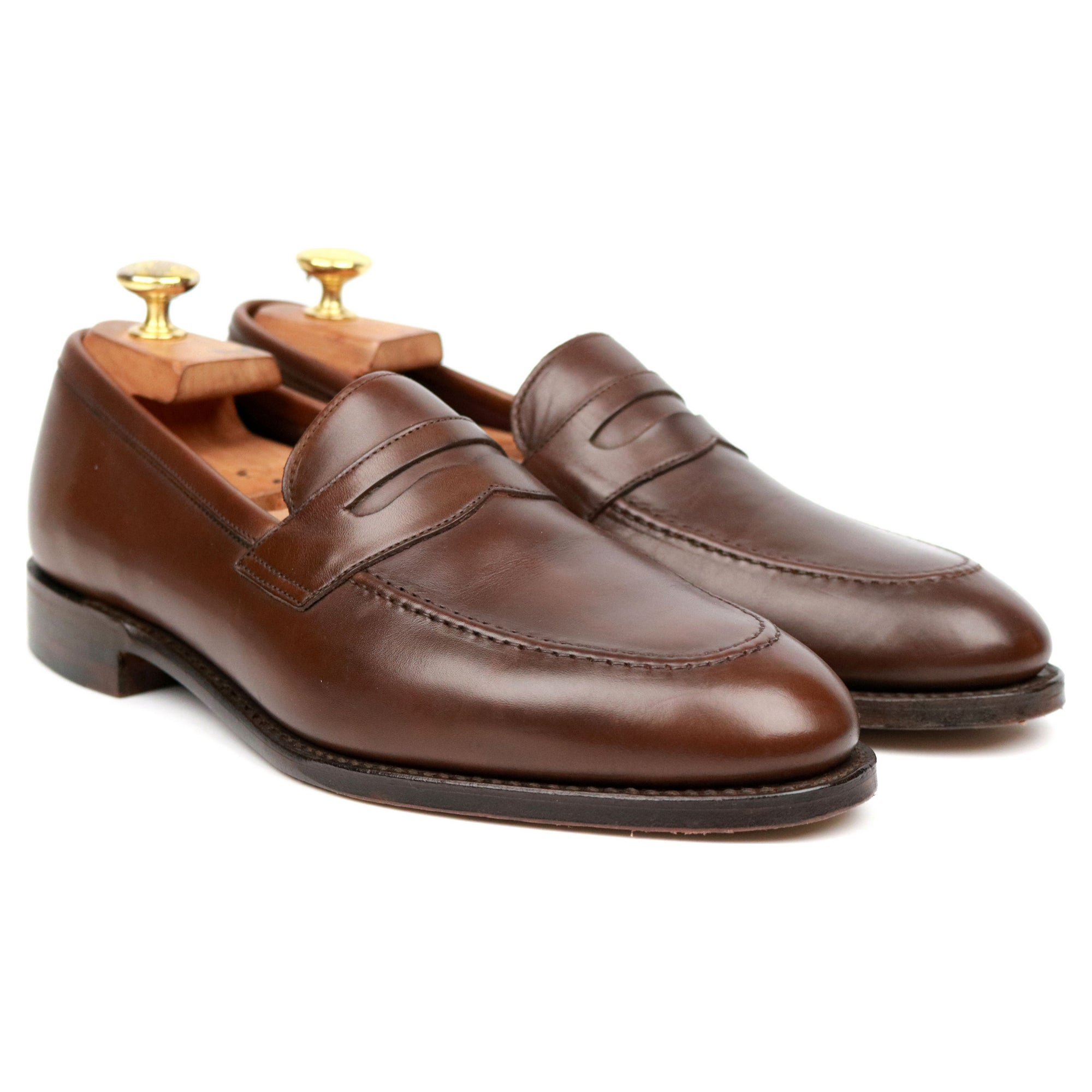 Loake 1880 'Whitehall' Brown Leather Loafers UK 8 F