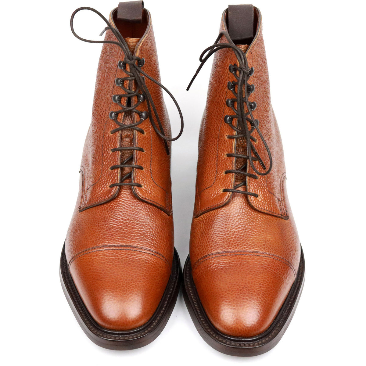 George Cleverley X Kingsman Tan Brown Leather Cap Toe Boots UK 8.5 E