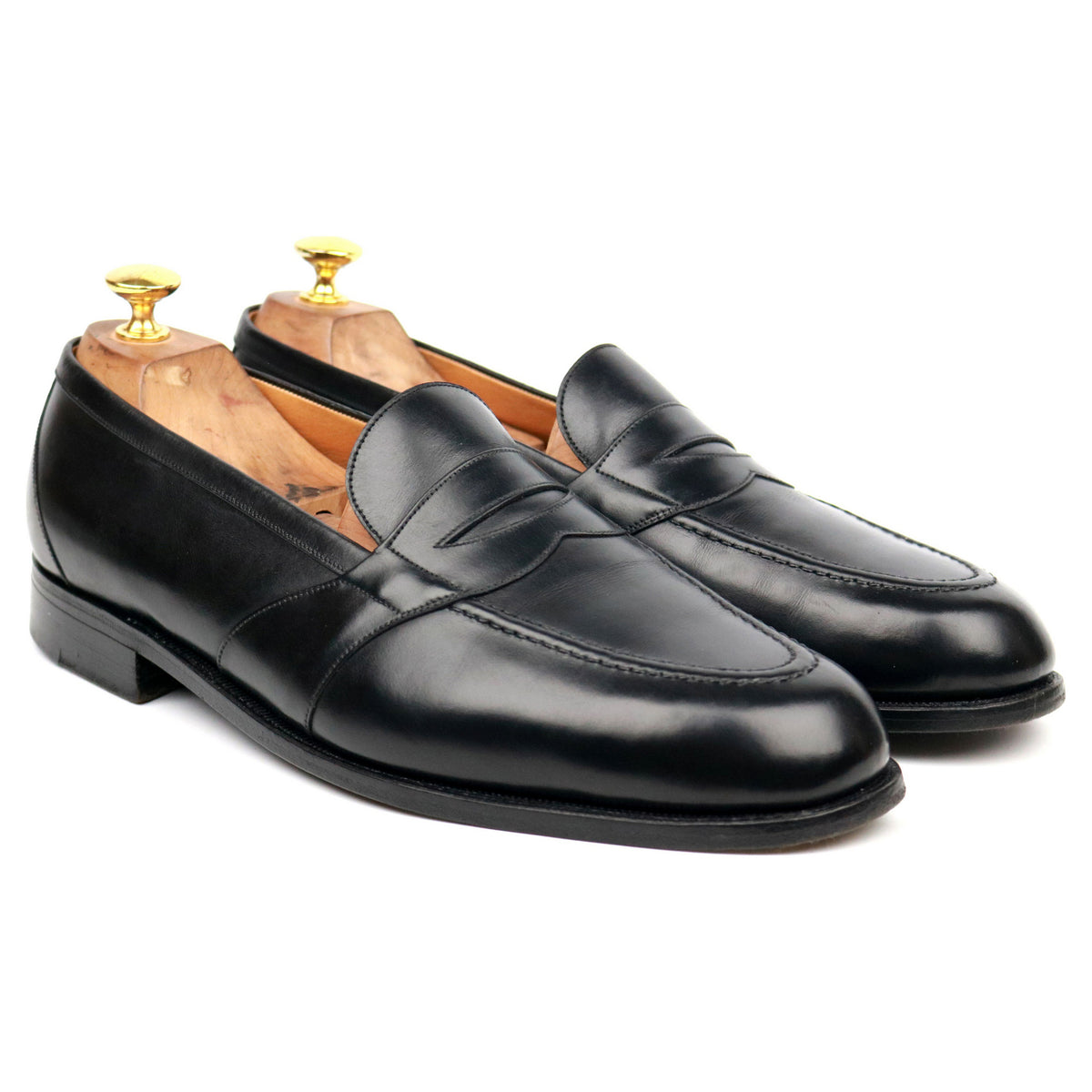 J.M. Weston Black Leather Loafers 10.5 D UK 11
