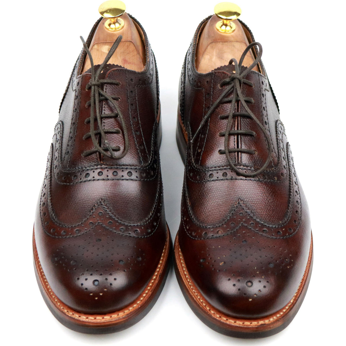 Grenson 'Stanley' Brown Leather Brogues UK 9.5 G