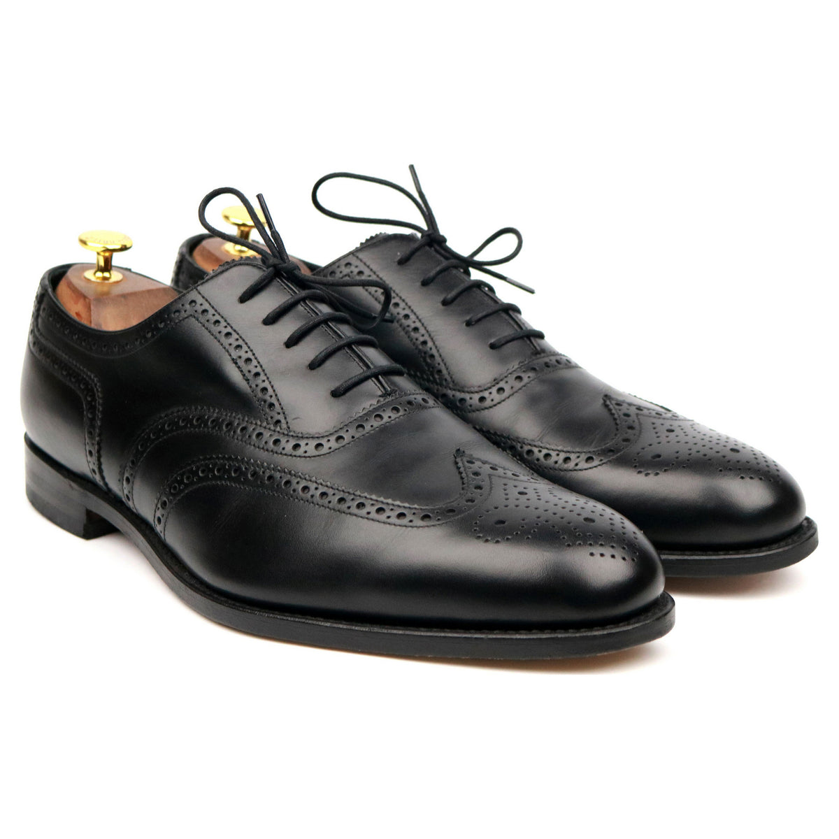 Loake Evolution 'Bailey' Black Leather Brogues UK 10.5 G