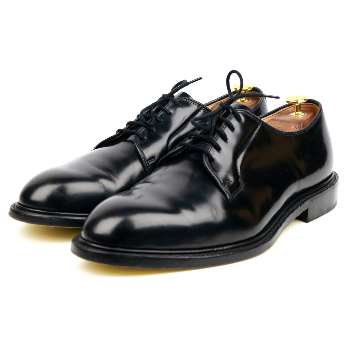 Tricker's X Paul Smith 'Robert' Black Leather Derby UK 10