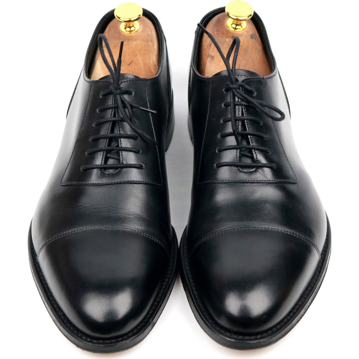 Loake 1880 'Churchill' Black Leather Oxford UK 8.5 F