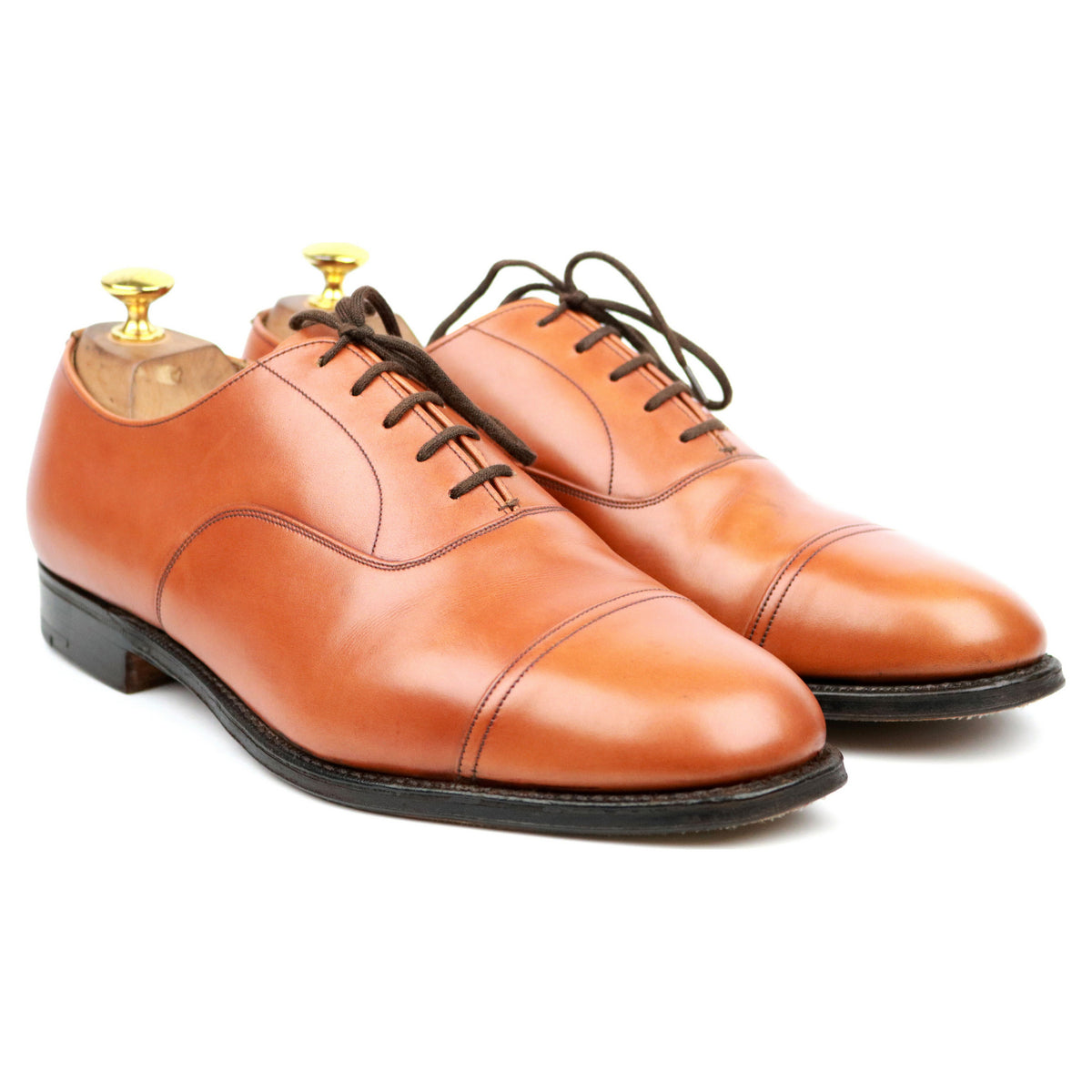 Church's 'Messenger' Tan Brown Leather Oxford UK 10 F