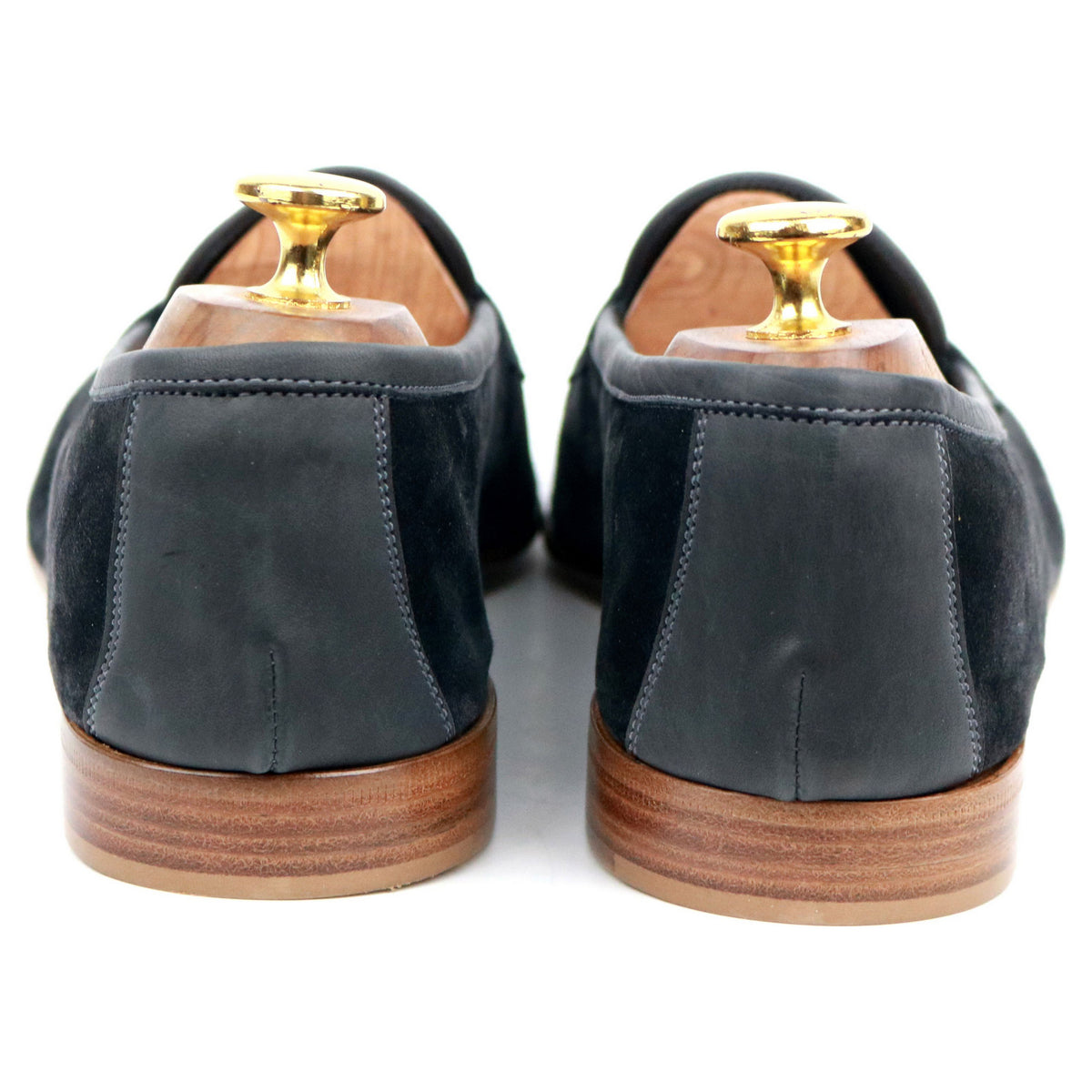 Edward Green 'Polperro' Navy Blue Loafers UK 8.5 E