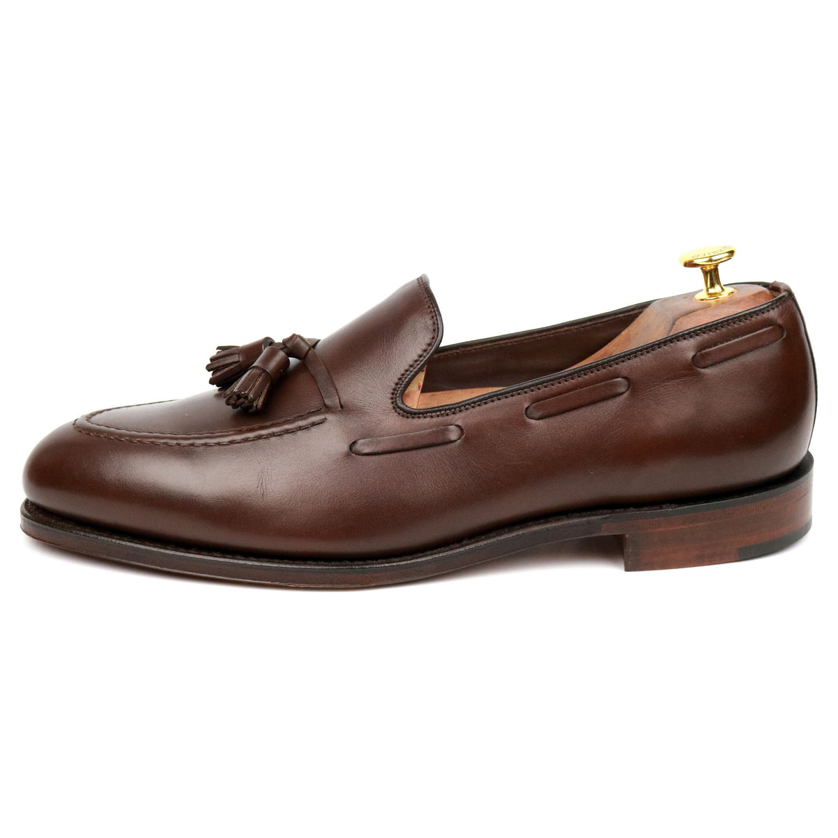 Loake 1880 'Russell' Brown Leather Tassel Loafers UK 10.5 F