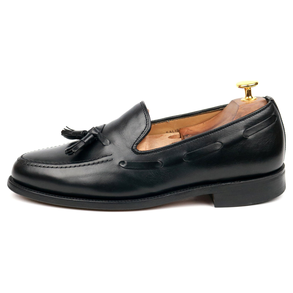 Loake 'Salisbury' Black Leather Tassel Loafers UK 7 E