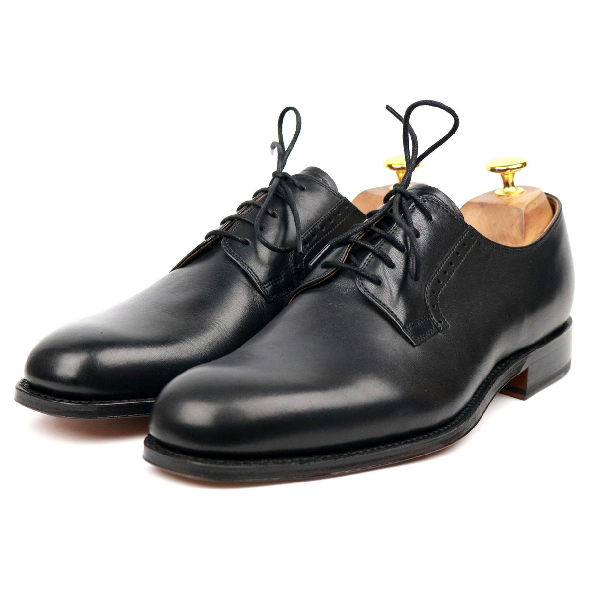 Grenson Black Leather Derby UK 8 F