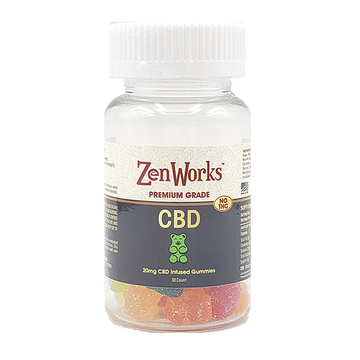 CBD Gummies, 20mg per Gummy, 30 Count Bottle