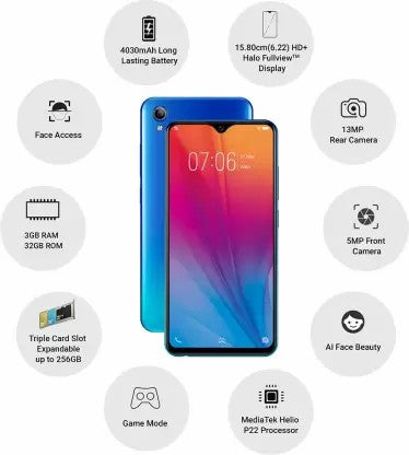 Vivo Y91i (Ocean Blue, 32 GB)  (3 GB RAM)