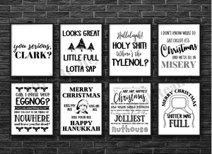 Christmas 8-Piece Wall Art / Signs [INSTANT DOWNLOAD]