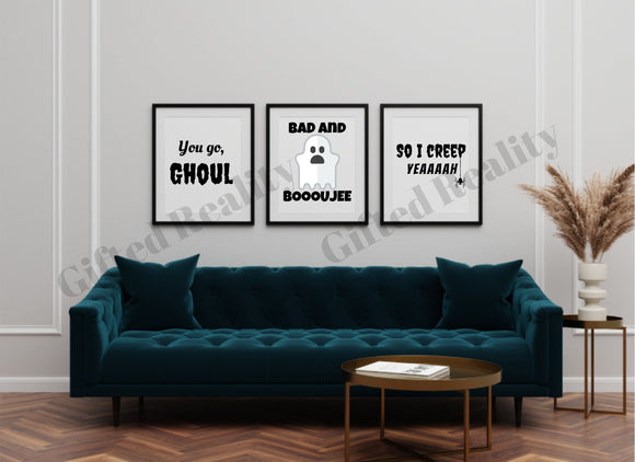 Halloween 3-Piece Wall Art / Signs [INSTANT DOWNLOAD]