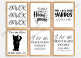 Halloween Poster Set of 6 [INSTANT DOWNLOAD]