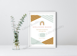 Welcome Back to School Sign [DIGITAL DOWNLOAD/Printable]