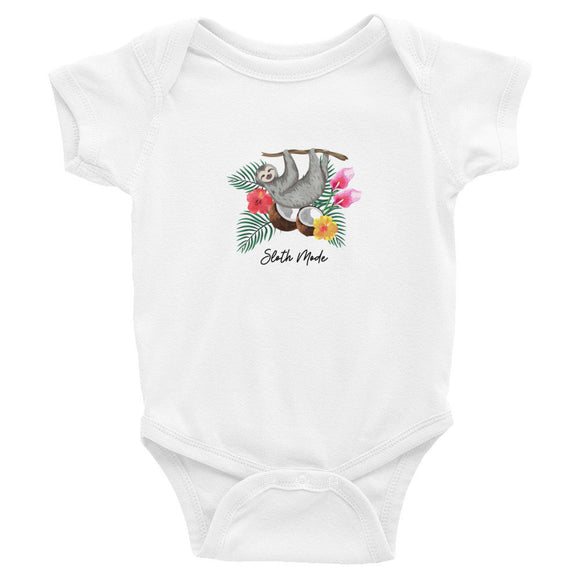 Sloth Mode One Piece Baby Outfit Bodysuit