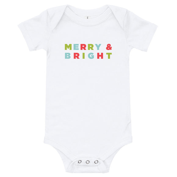 Merry & Bright Baby One Piece Outfit Bodysuit