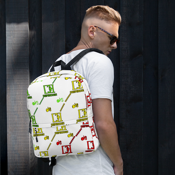 Designer label backpack - CARIBBEAN - Deepenough Clothing Company