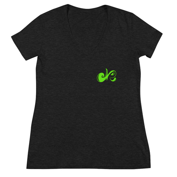 LIME KISS Deep V-neck Tee - Deepenough Clothing Company