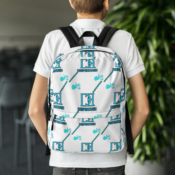 Designer label backpack - BLUCREME - Deepenough Clothing Company