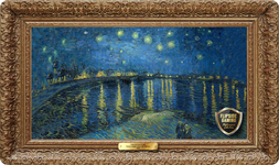 Starry Night Over the Rhône (1888) Playmat - Vincent Van Gogh Flipside Masterpiece Collection