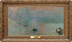 Impression Sunrise (1872)  Playmat - Claude Monet Flipside Masterpiece Collection