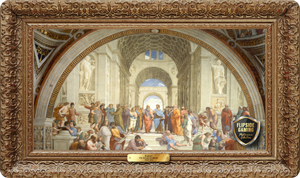 The School of Athens (1509-1511) Playmat - Raphael Flipside Masterpiece Collection