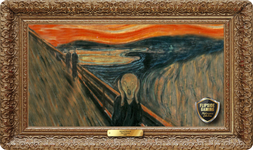The Scream (1893) Playmat - Edvard Munch Flipside Masterpiece Collection