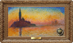 San Giorgio Maggiore at Dusk (1908) Playmat - Claude Monet Flipside Masterpiece Collection