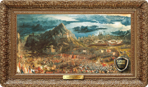 The Battle of Alexander at Issus (1529) Playmat - Albrecht Altdorfer Flipside Masterpiece Collection