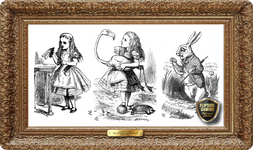 Alice in Wonderland Illustrations (1860-1870's) Playmat - Sir John Tenniel Flipside Masterpiece Collection