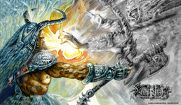 Arcane Denial Color to Sketch Playmat - Richard Kane Ferguson Flipside Exclusive
