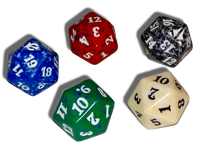 Magic 20 Sided Life Counter Dice Assorted