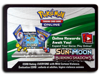 Pokemon TCG Online Sun and Moon Burning Shadows Booster Pack Code